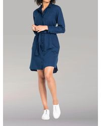 Lee Jeans Euro - Collared Shirt Dress - Blue