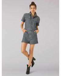 Lee Jeans Vintage Modern Shorts Slve Shrt Union-all - Blue