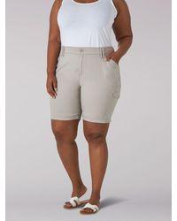 Lee Jeans Flextogo Rlxed Cargo Bermuda Plus Size - Gray