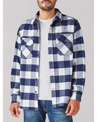 Lee Jeans Buffalo Check Camois Shirt Jacket - White
