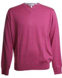 Peter Millar Crown Soft Wool V Neck Knit Sweater - Pink