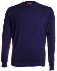 Stenströms Merino Crew Neck Sweater - Blue