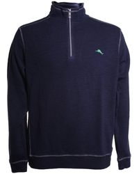Tommy Bahama Tobago Bay Half Zip Cotton Sweater - Blue