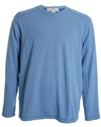 Tommy Bahama Crest Long Sleeve Flip Reversible Tee - Blue
