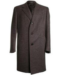 Canali Wool Topcoat - Brown
