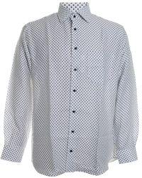St. Croix Tie Print Dress Shirt - Blue