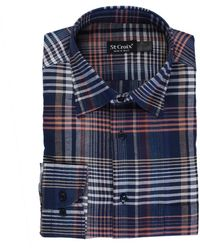 St. Croix Plaid Dress Shirt - Blue