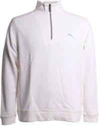 Tommy Bahama Tobago Bay Half Zip Cotton Sweater - White