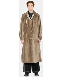 Commun's Belted Military Coat - Natural