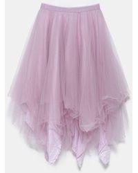 Marc Le Bihan Multilayer Asymmetric Skirt - Purple