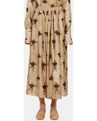 Uma Wang Galal Graphic Print Skirt - Natural