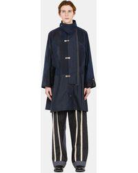 Commun's Back Belt Coat - Blue