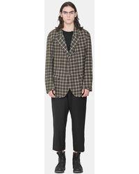 Ziggy Chen Dark Wool-blend Jacket - Green