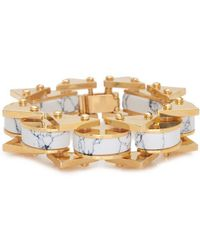 Lele Sadoughi - Striped Slim Satellite Bracelet - Lyst