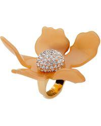 Lele Sadoughi - Crystal Lily Ring, Honey Blush - Lyst