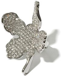 Lele Sadoughi - All Over Crystal Lily Ring - Lyst