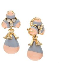 Lele Sadoughi | Striped Orchid Earrings | Lyst
