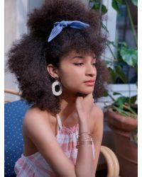 lemlem Zinab Hair Scrunchie - Blue