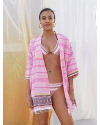 lemlem Neela Short Robe - Multicolor