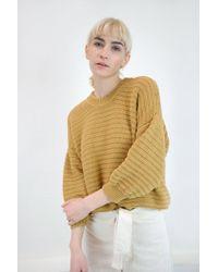 Micaela Greg - Roll Rib Sweater | Maize - Lyst