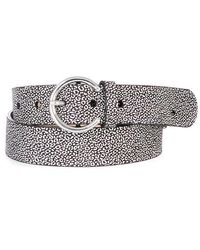 Brave Leather Zona Circle Buckle | Diamond Cheetah - Metallic