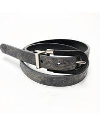 Brave Leather Ananda Reversible Belt | Gold Snake / Blk - Multicolor