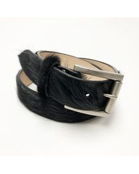 Brave Leather Leysa Pony Hair | Black