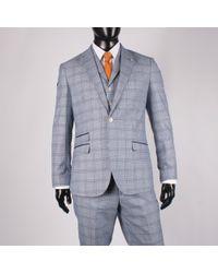 leonard silver | Multi Check 3 Piece Suit | Lyst