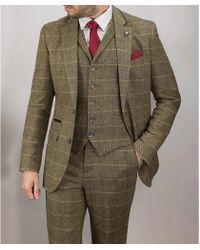 leonard silver | Brown Tweed 3piece Suit | Lyst