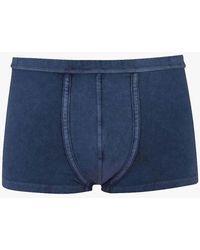 Les Girls, Les Boys Vintage Wash Trunks Navy - Blue