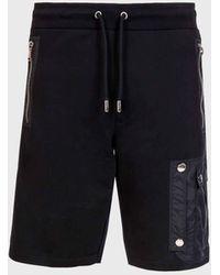 Les Hommes JOGGERS Short With Big Pocket - Black