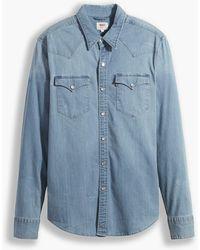 Levi's Camisa Barstow Western (tallas grandes) Azul - Rojo
