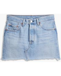 Levi's Deconstructed Rok Hoge Taille (grote Maat) - Blauw