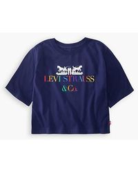 Levi's Coporate Logo Cropped Tee Teenager - Blue