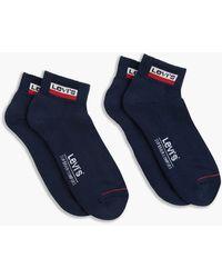 Levi's Socks Mid Cut Sportswear Logo Blu