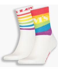 Levi's Chaussettes unisexes basses ® Pride Lot de 2 Multicolore
