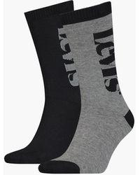 Levi's ® Regular Cut Socks 2 Pack - Black