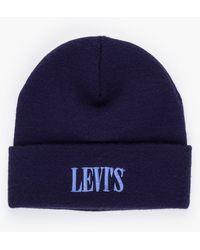 Levi's Serif Logo Beanie Bleu