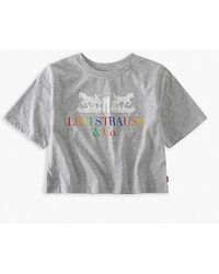 Levi's Coporate Logo Cropped Tee Teenager - Gray
