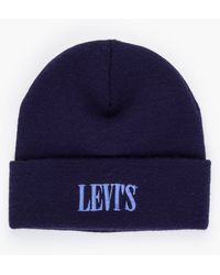 Levi's Serif Logo Beanie - Blauw