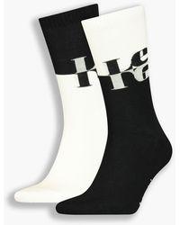 Levi's ® Unisex Regular Cut Socks 2 Pack Multicolor - Negro
