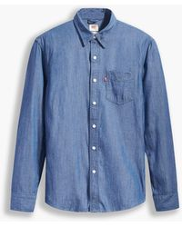 Levi's Sunset 1 Pocket Slim Shirt - Blauw