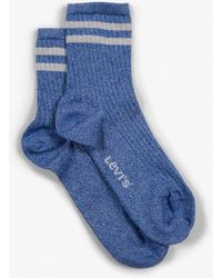 Levi's ® Women Short Sock Lurex Sport 1 Pack - Blue