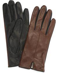 Portolano - Two-tone Nappa Gloves - Lyst