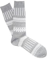 Ayamé - Triangle Square Pattern Socks - Lyst