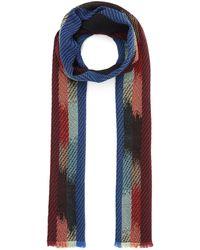 Missoni Slim Multicolour Stripe Scarf - Black