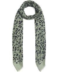 Lily and Lionel Leopard Modal-blend Scarf - Green