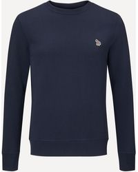 PS by Paul Smith Zebra Crew-neck Sweatshirt - Blue