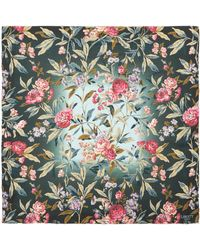 Liberty Desert Rose 90 X 90cm Silk Twill Foulard Scarf - Green