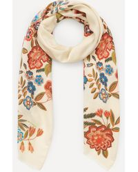 Etro - Floral Print Cashmere-blend Scarf - Lyst